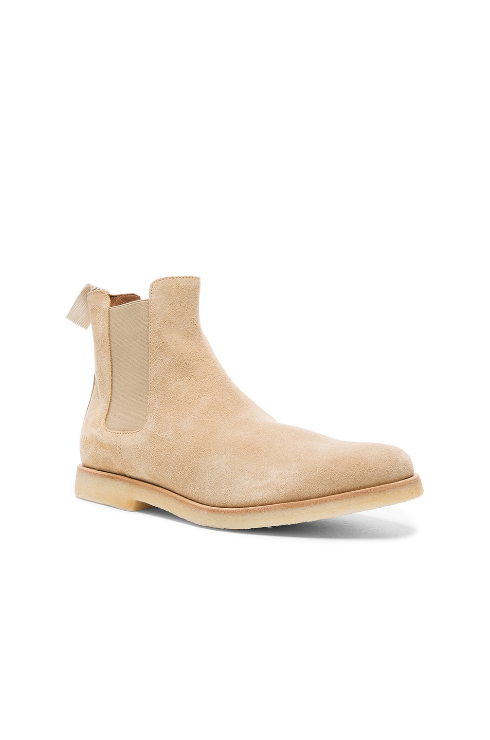 Image 1 of Common Projects Suede Chelsea Boots in Tan