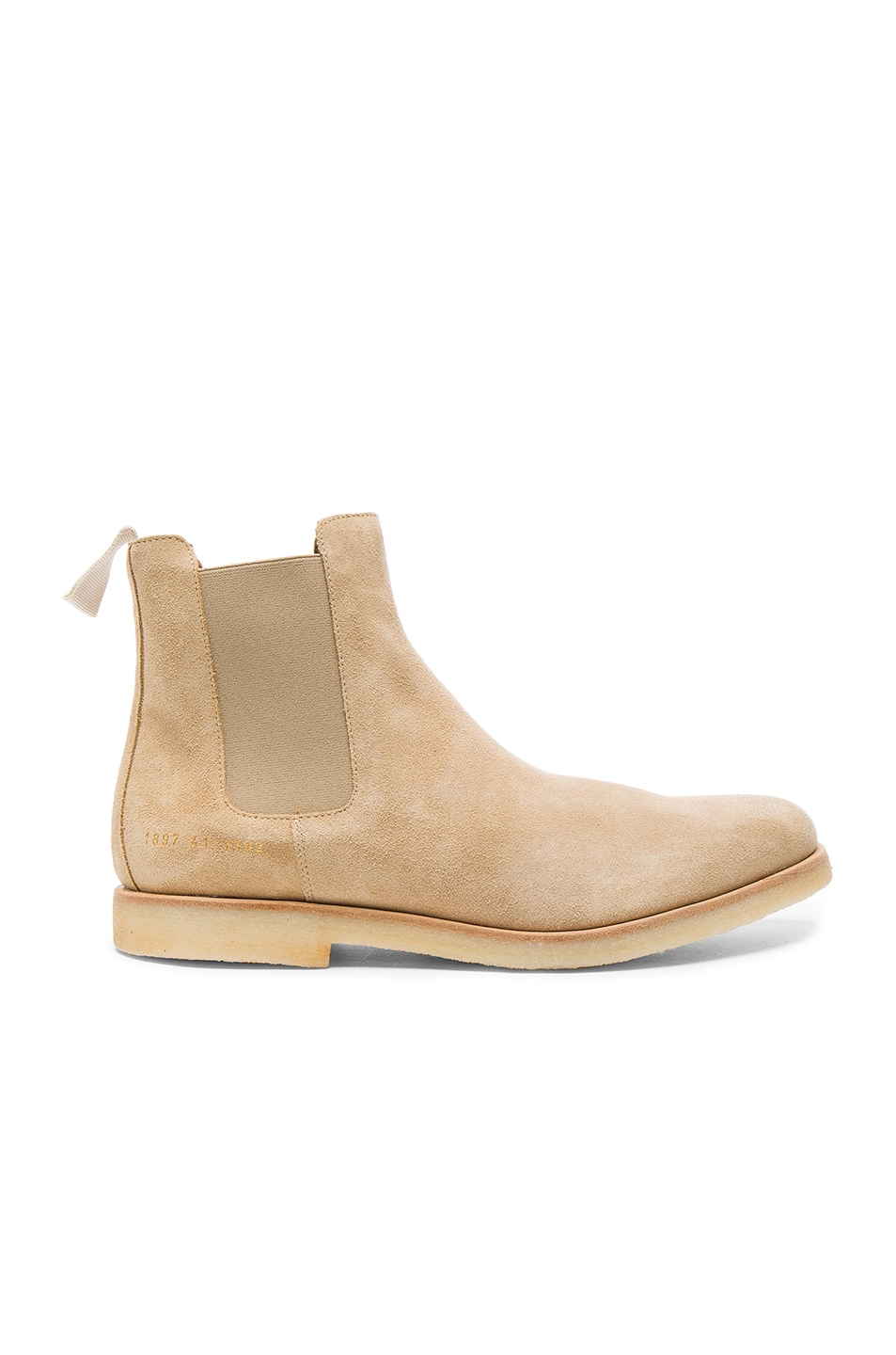 Image 2 of Common Projects Suede Chelsea Boots in Tan