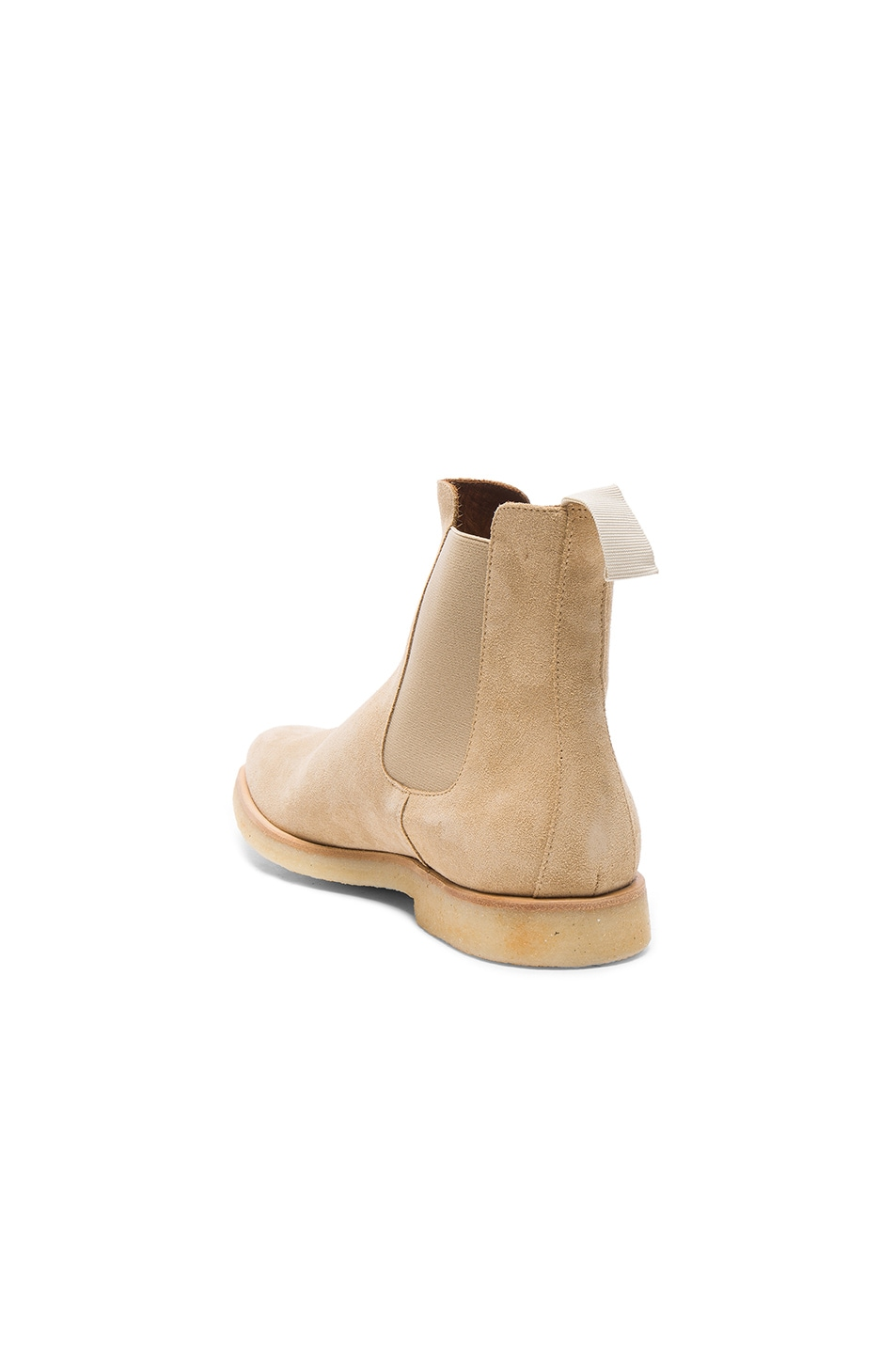 Image 3 of Common Projects Suede Chelsea Boots in Tan