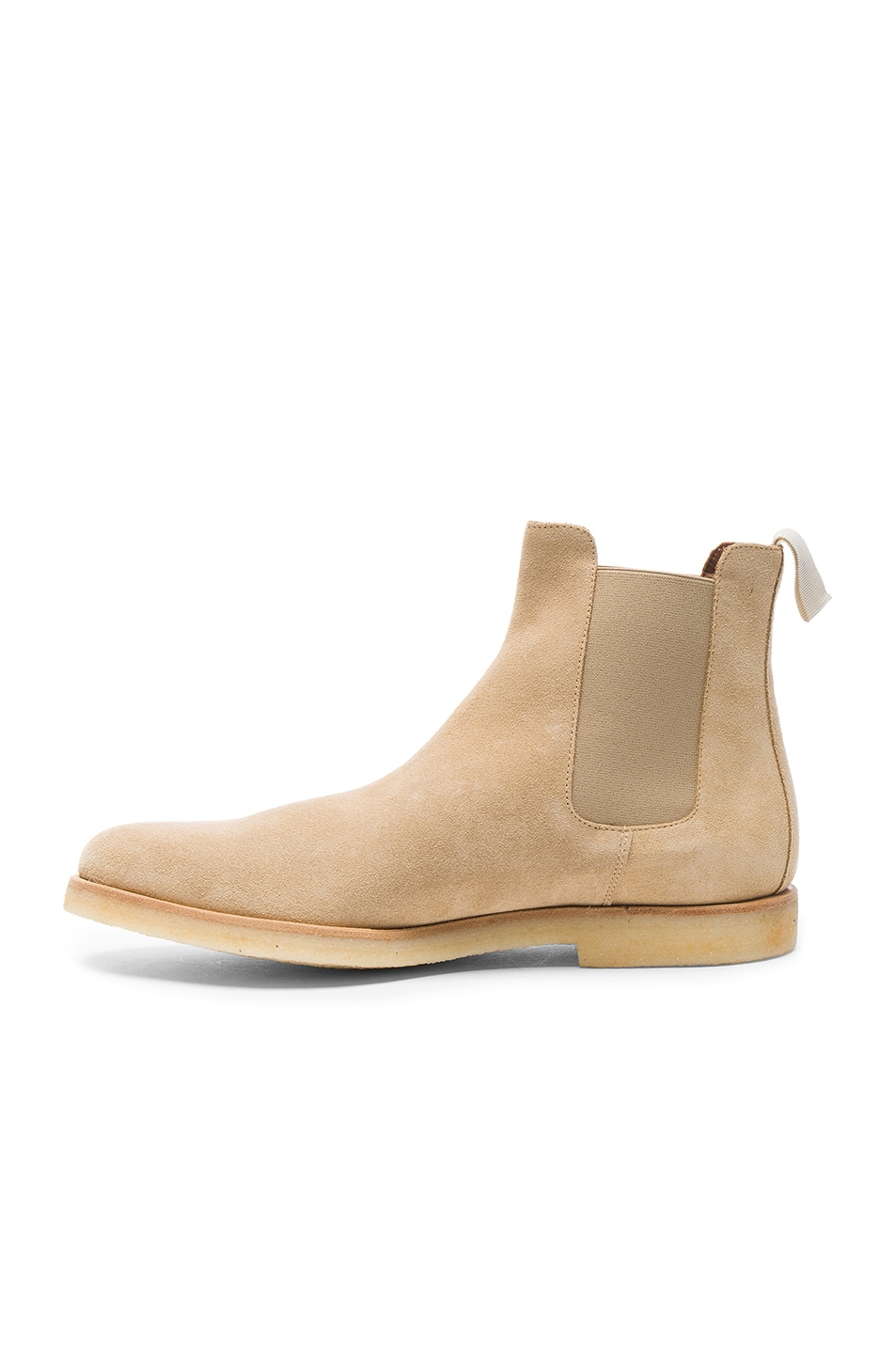 Image 5 of Common Projects Suede Chelsea Boots in Tan