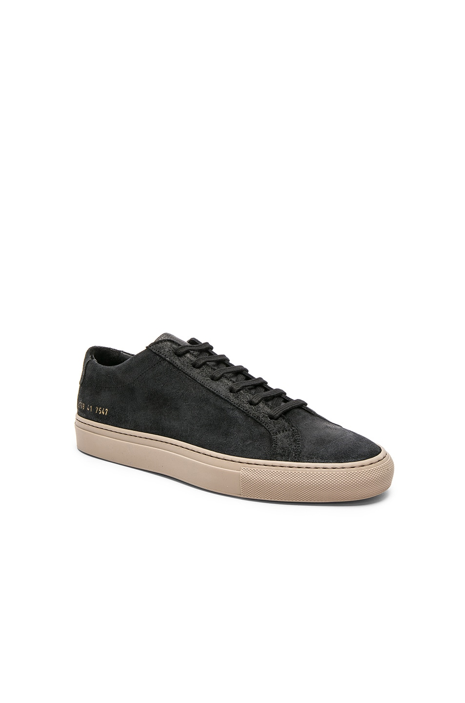 2e0a70cc66df Image 1 of Common Projects Waxed Suede Achilles Low in Black