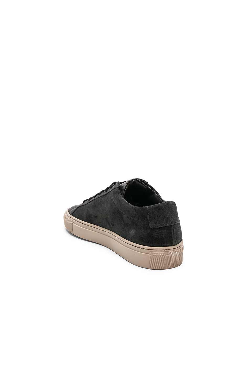 c546cfb79ed1 Image 3 of Common Projects Waxed Suede Achilles Low in Black