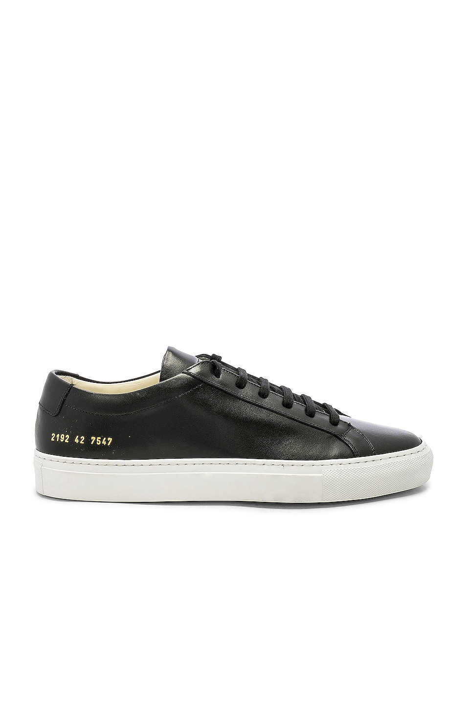 Image 1 of Common Projects Original Leather Achilles with White Sole in Black