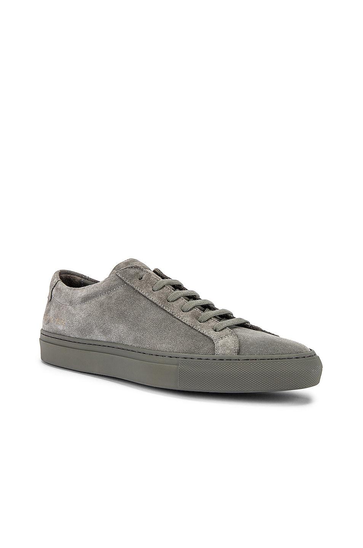 Image 1 of Common Projects Original Achilles Suede Low Sneaker in Cobalt Grey
