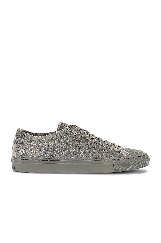 Image 2 of Common Projects Original Achilles Suede Low Sneaker in Cobalt Grey