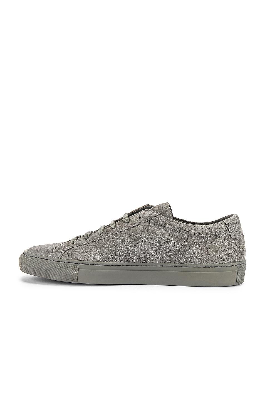 Image 5 of Common Projects Original Achilles Suede Low Sneaker in Cobalt Grey