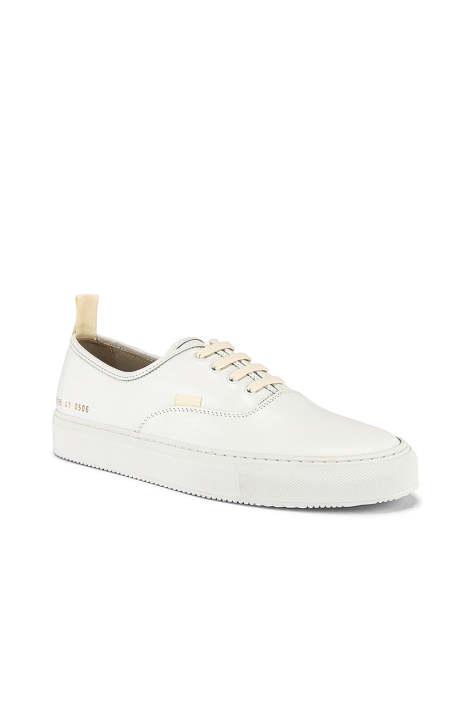 Image 1 of Common Projects Four Hole in Leather Low Sneaker in White