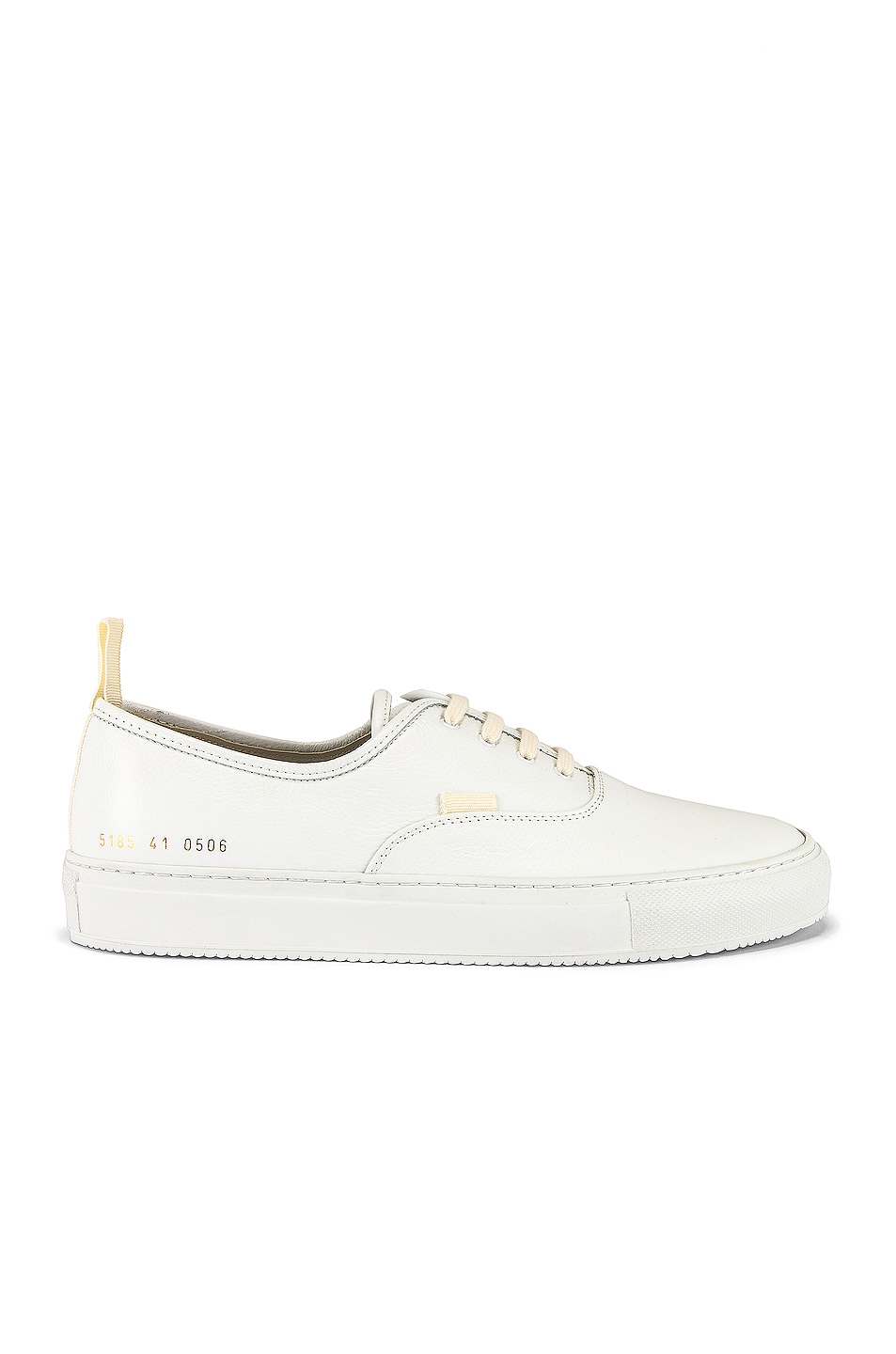 Image 2 of Common Projects Four Hole in Leather Low Sneaker in White