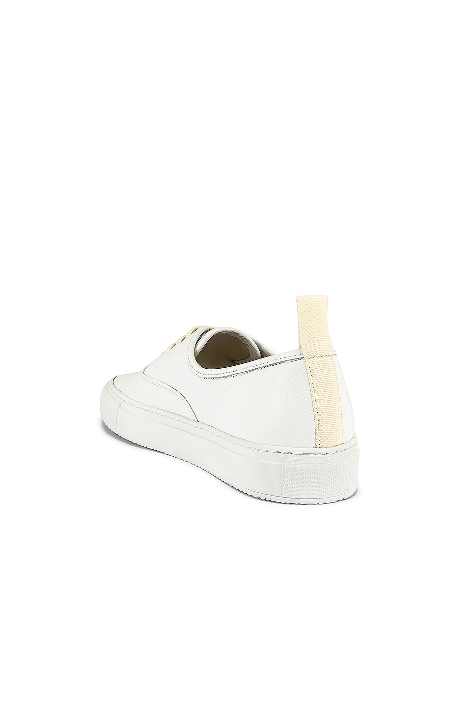 Image 3 of Common Projects Four Hole in Leather Low Sneaker in White