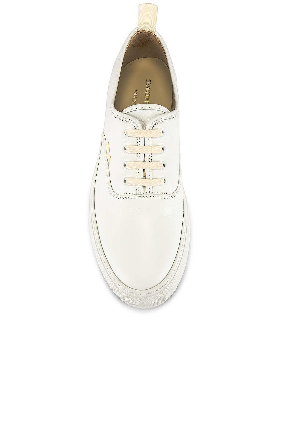 Image 4 of Common Projects Four Hole in Leather Low Sneaker in White