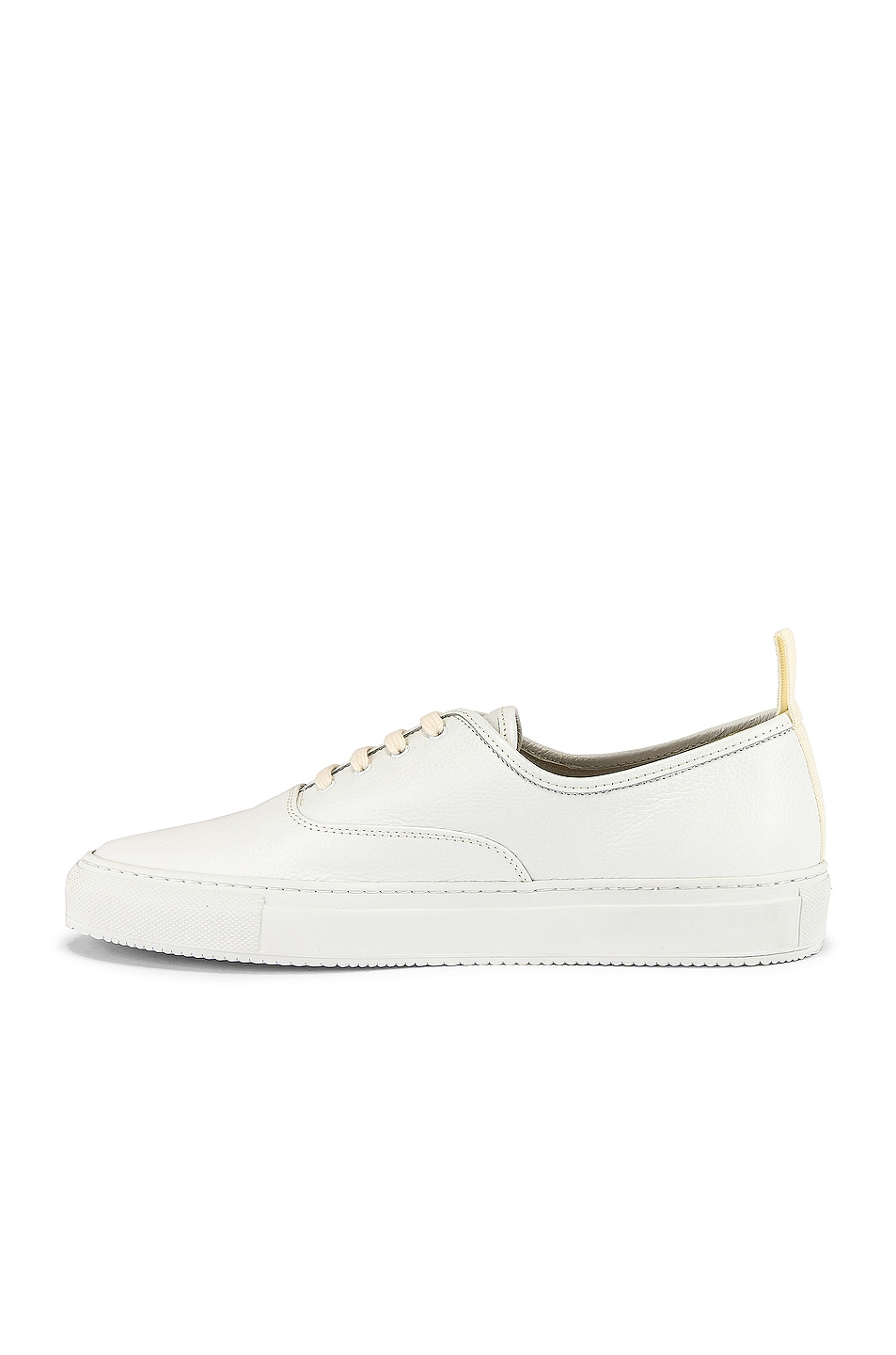 Image 5 of Common Projects Four Hole in Leather Low Sneaker in White
