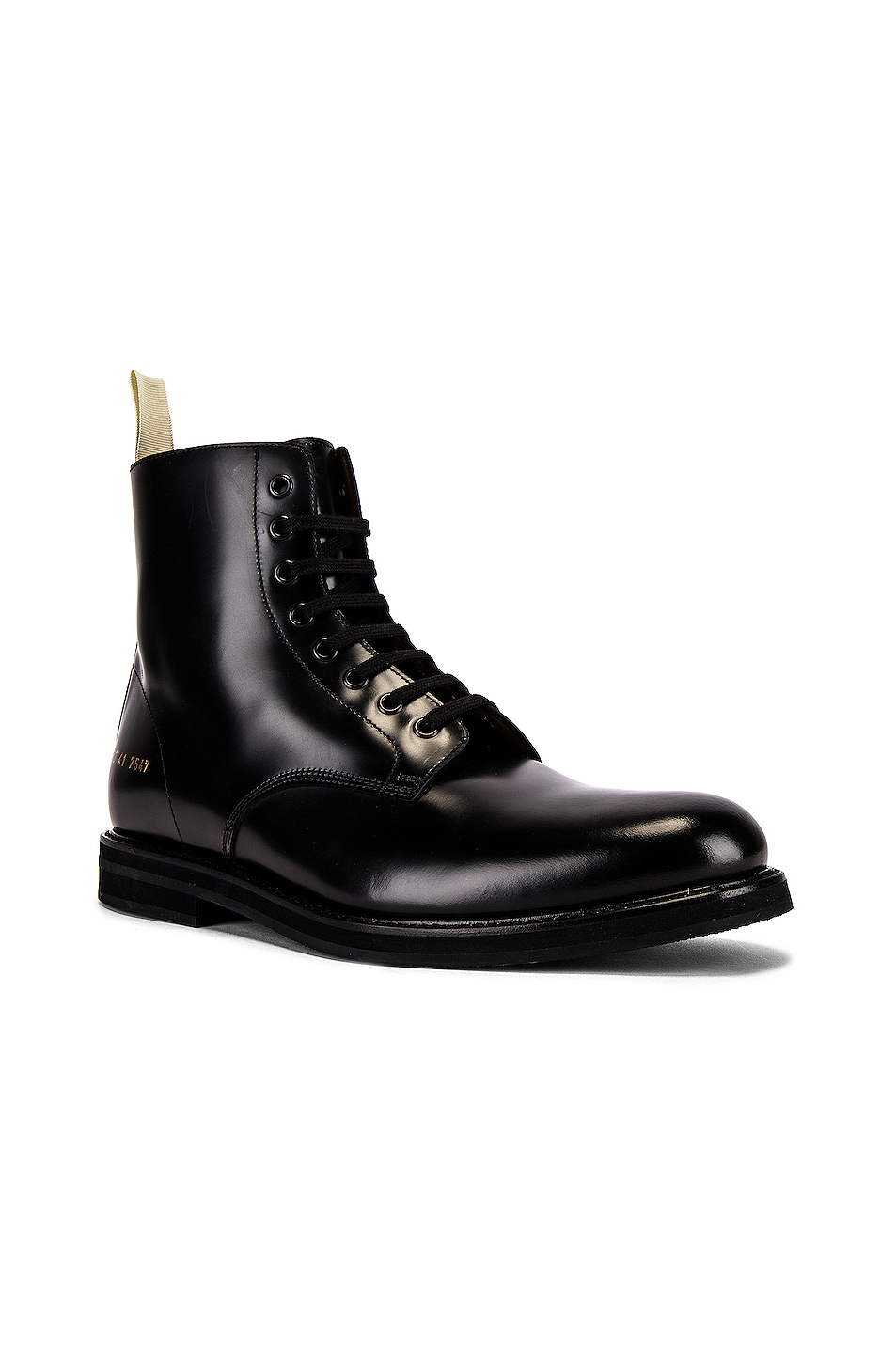 Image 1 of Common Projects Standard Combat Boot in Black