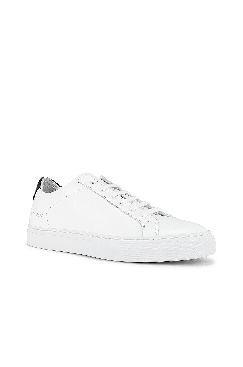 Image 1 of Common Projects Retro Low Sneaker in White & Black