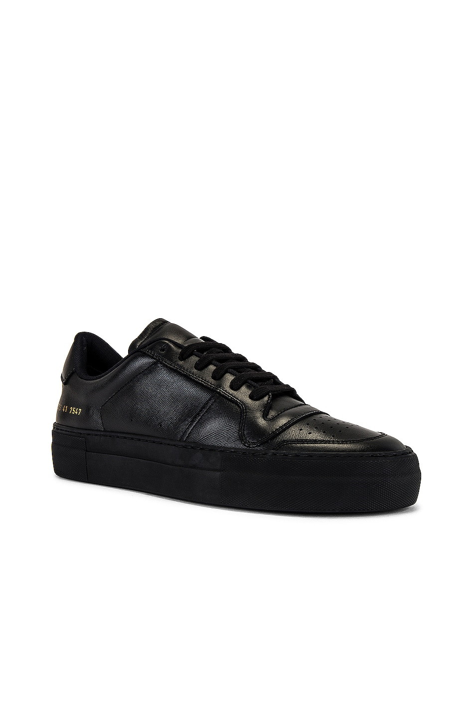 Image 1 of Common Projects Full Court Saffiano Low Top Sneaker in Black