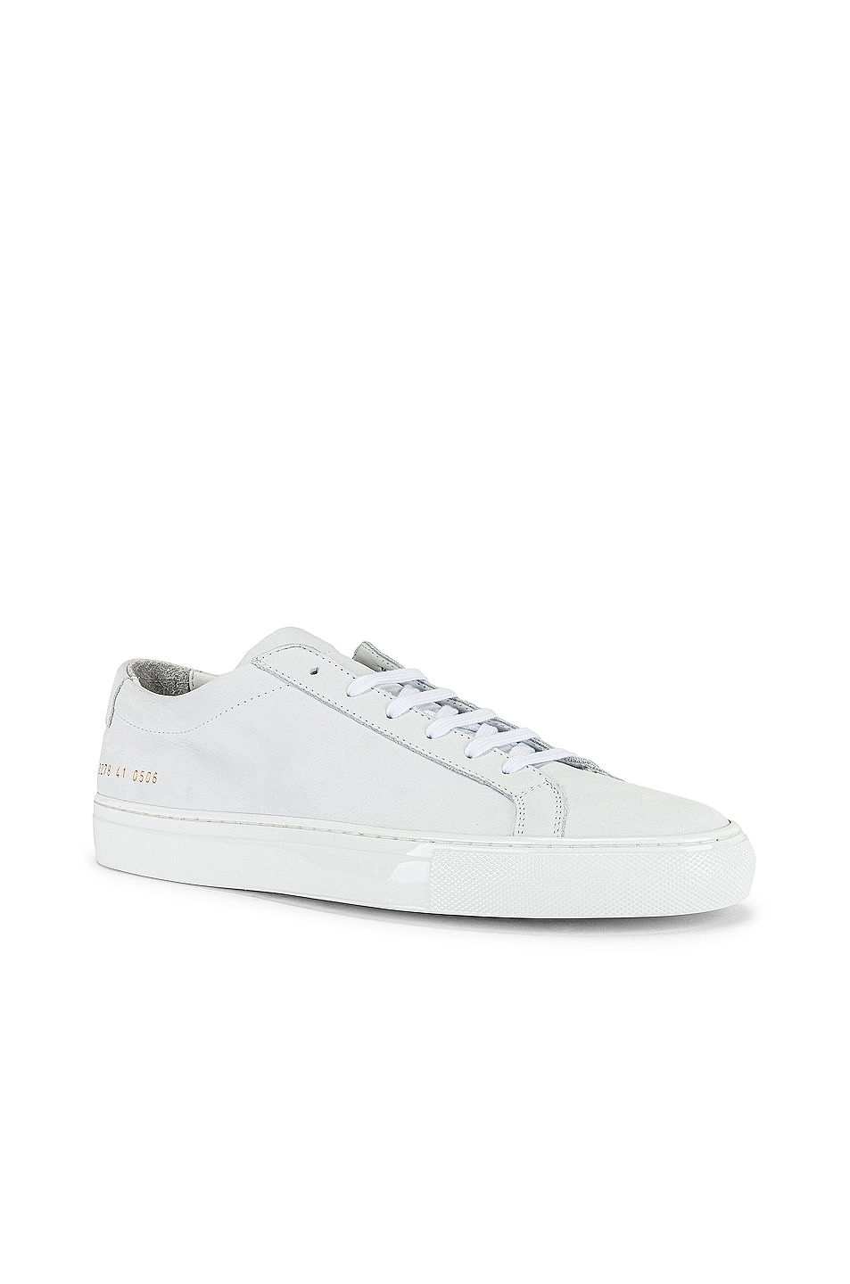 Image 1 of Common Projects Achilles Nubuck Lux Low Top Sneaker in White