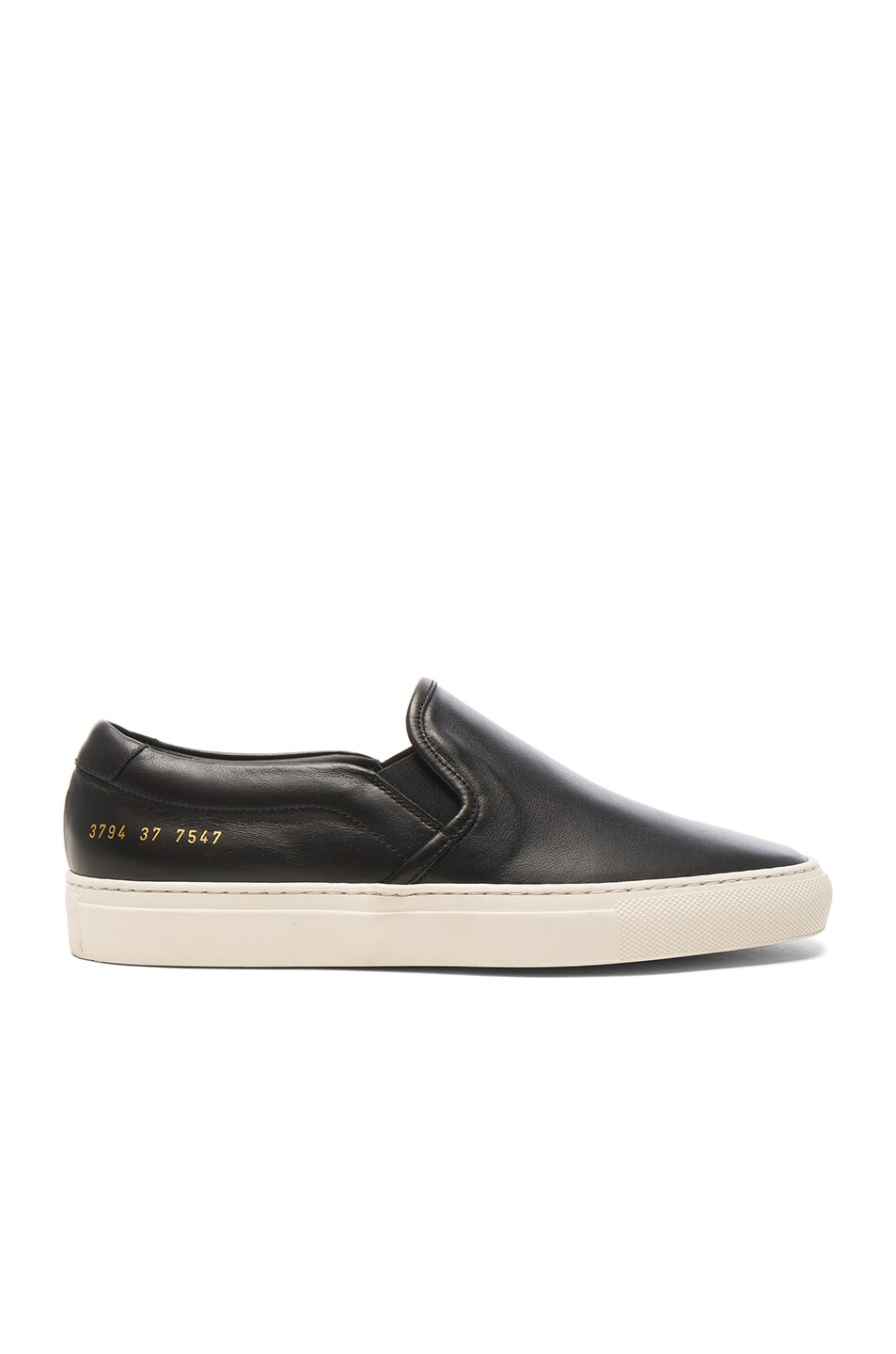 Image 1 of Common Projects Leather Slip on Retro in Black