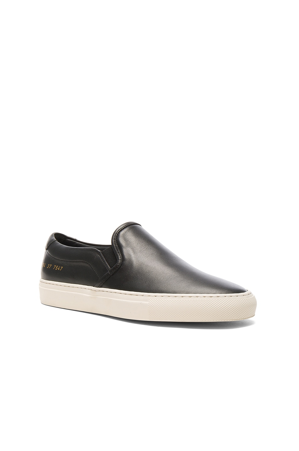 Image 2 of Common Projects Leather Slip on Retro in Black