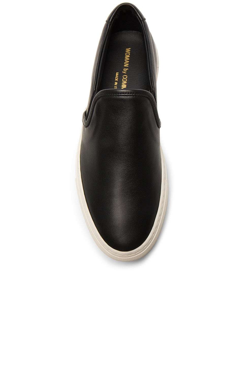 Image 4 of Common Projects Leather Slip on Retro in Black