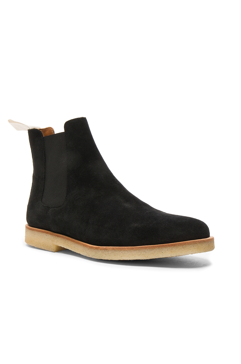 Image 2 of Common Projects Suede Chelsea Boots in Black