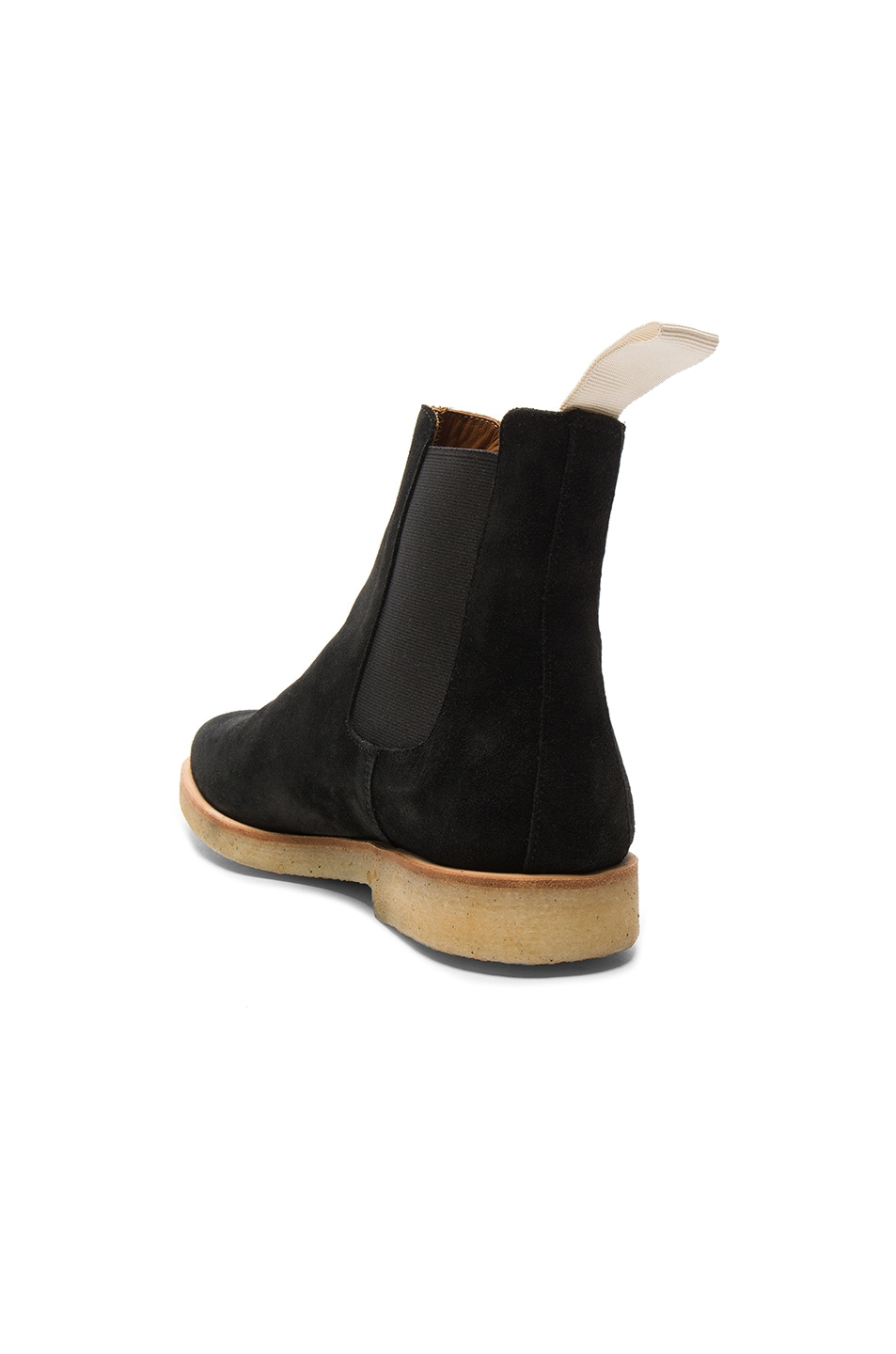 Image 3 of Common Projects Suede Chelsea Boots in Black