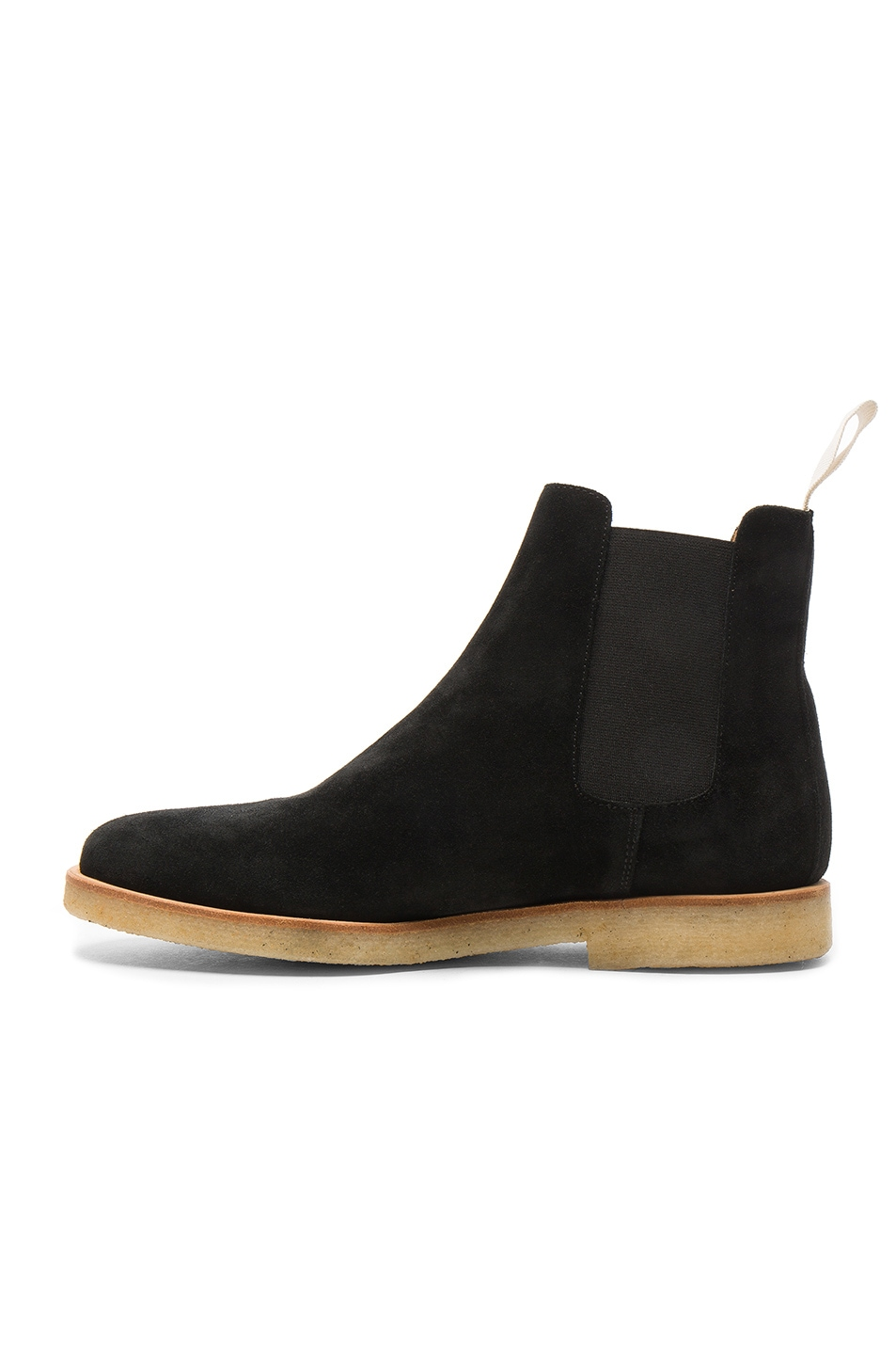 Image 5 of Common Projects Suede Chelsea Boots in Black