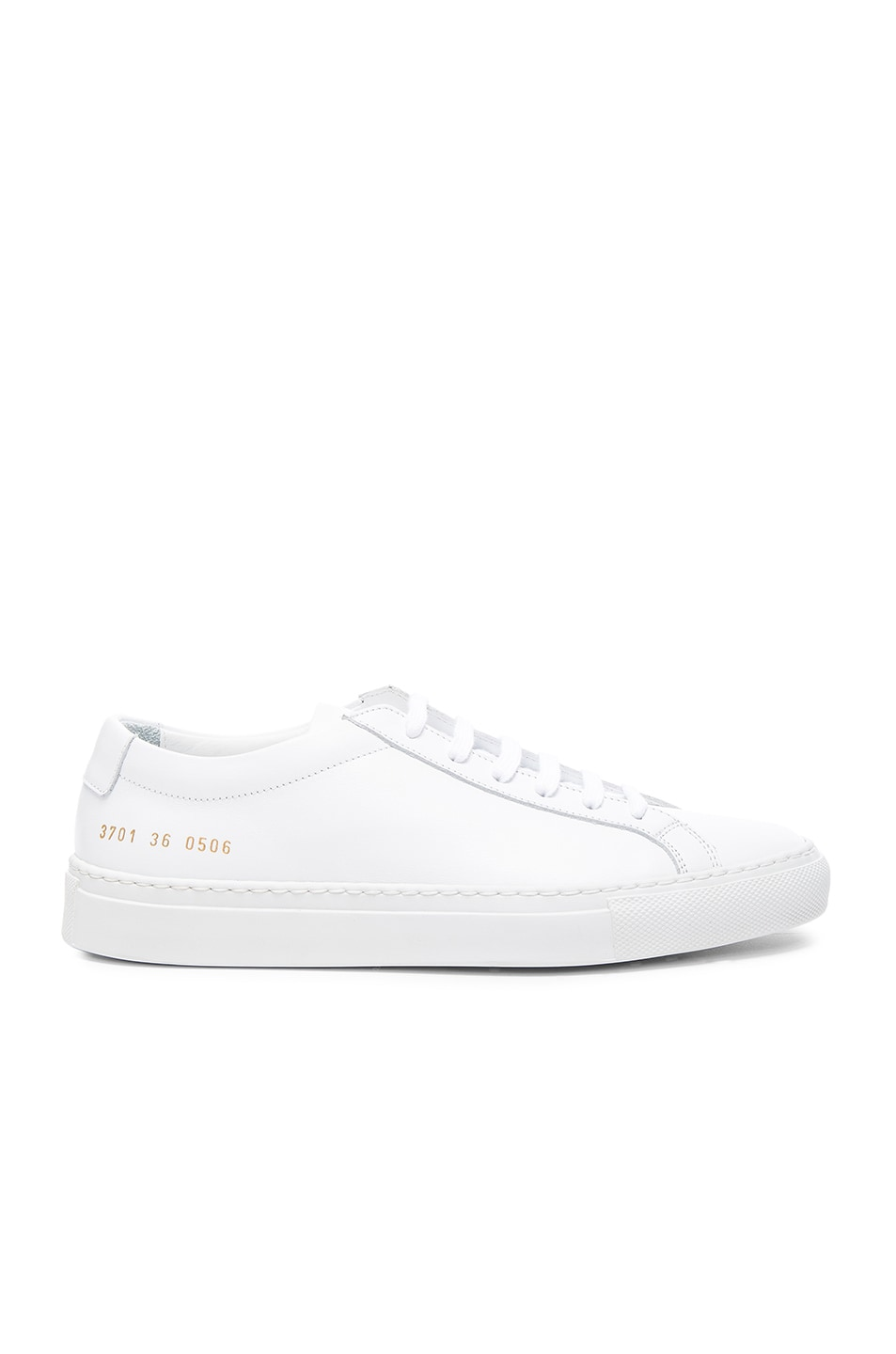 Image 1 of Common Projects Leather Original Achilles Low in White