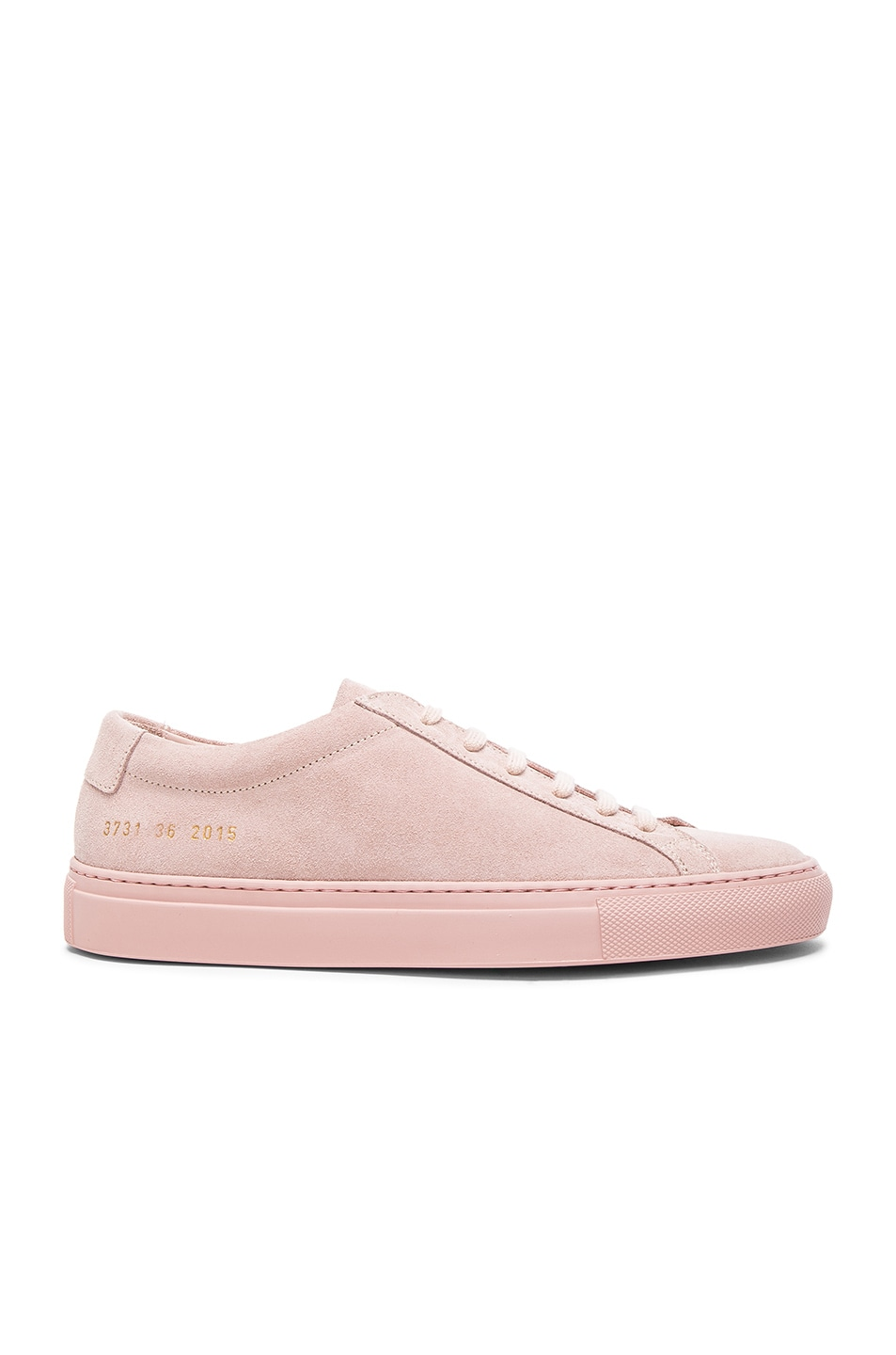 Image 1 of Common Projects Leather Original Achilles Low Suede in Blush