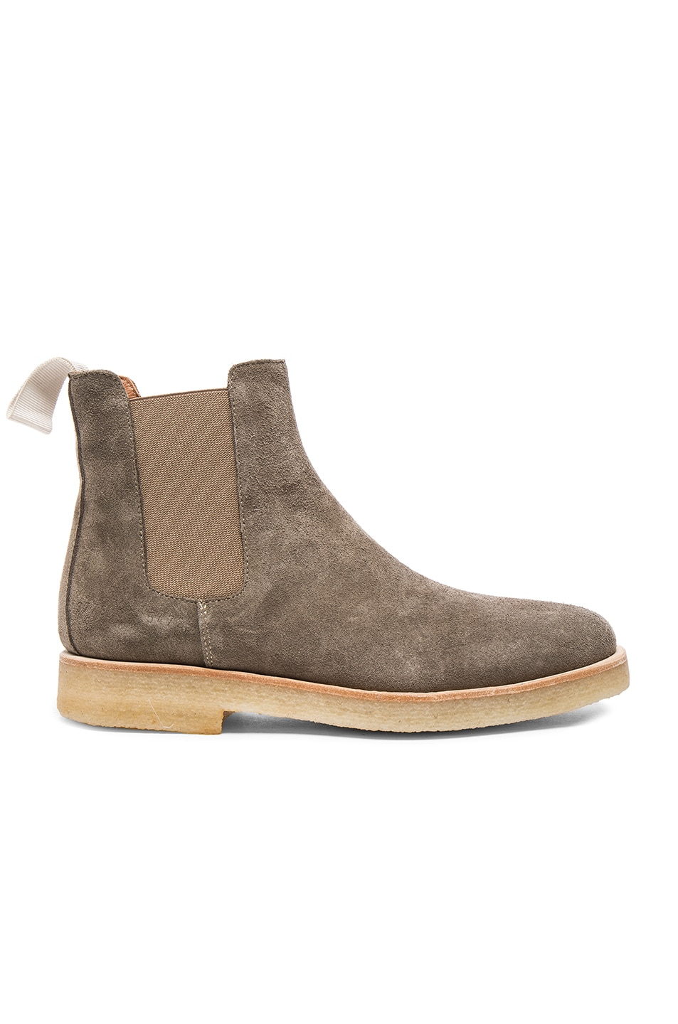 Image 1 of Common Projects Suede Chelsea Boots in Warm Grey