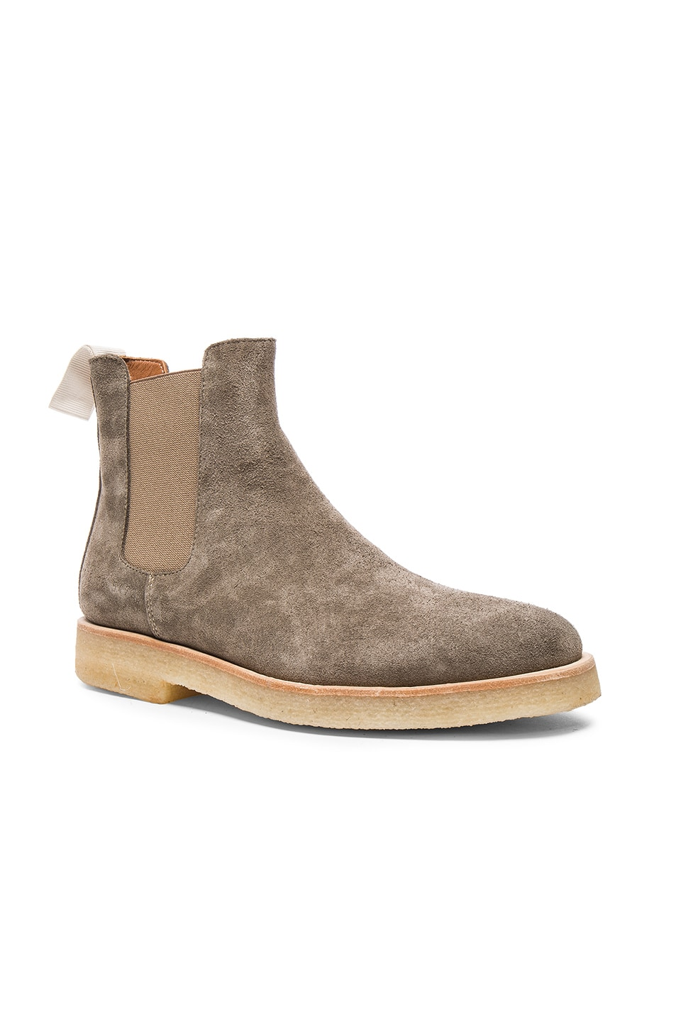 Image 2 of Common Projects Suede Chelsea Boots in Warm Grey