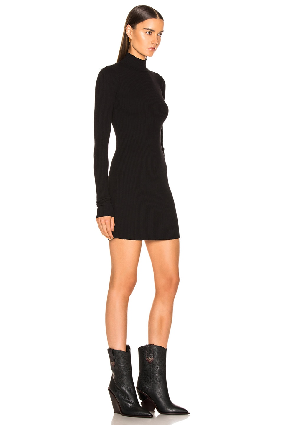 Image 2 of COTTON CITIZEN Ibiza Mini Dress in Jet Black