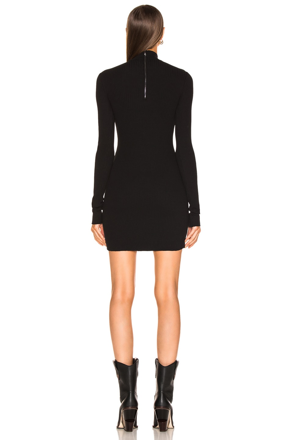 Image 3 of COTTON CITIZEN Ibiza Mini Dress in Jet Black