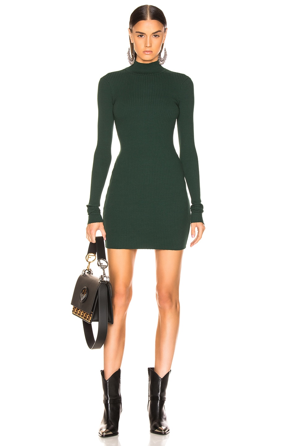 Image 1 of COTTON CITIZEN Ibiza Dress in Battle Green