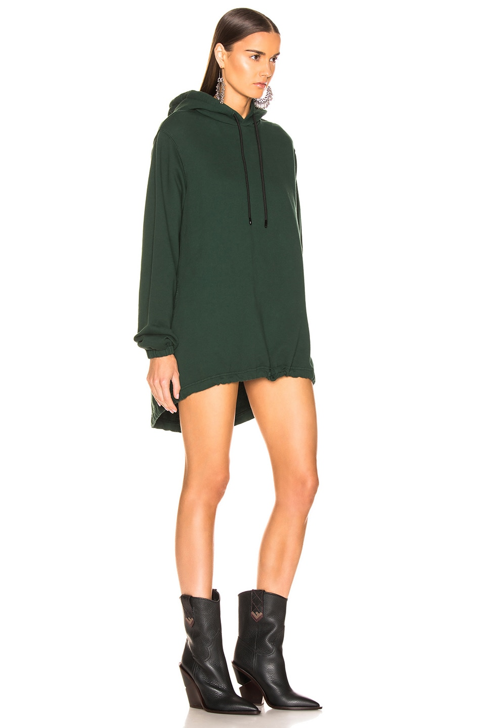Image 2 of COTTON CITIZEN Milan Hoodie Dress in Battle Green