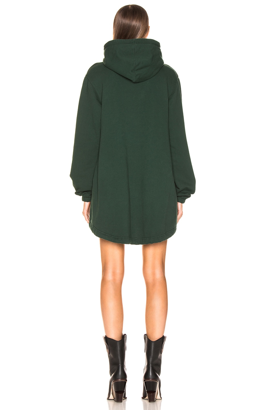 Image 3 of COTTON CITIZEN Milan Hoodie Dress in Battle Green