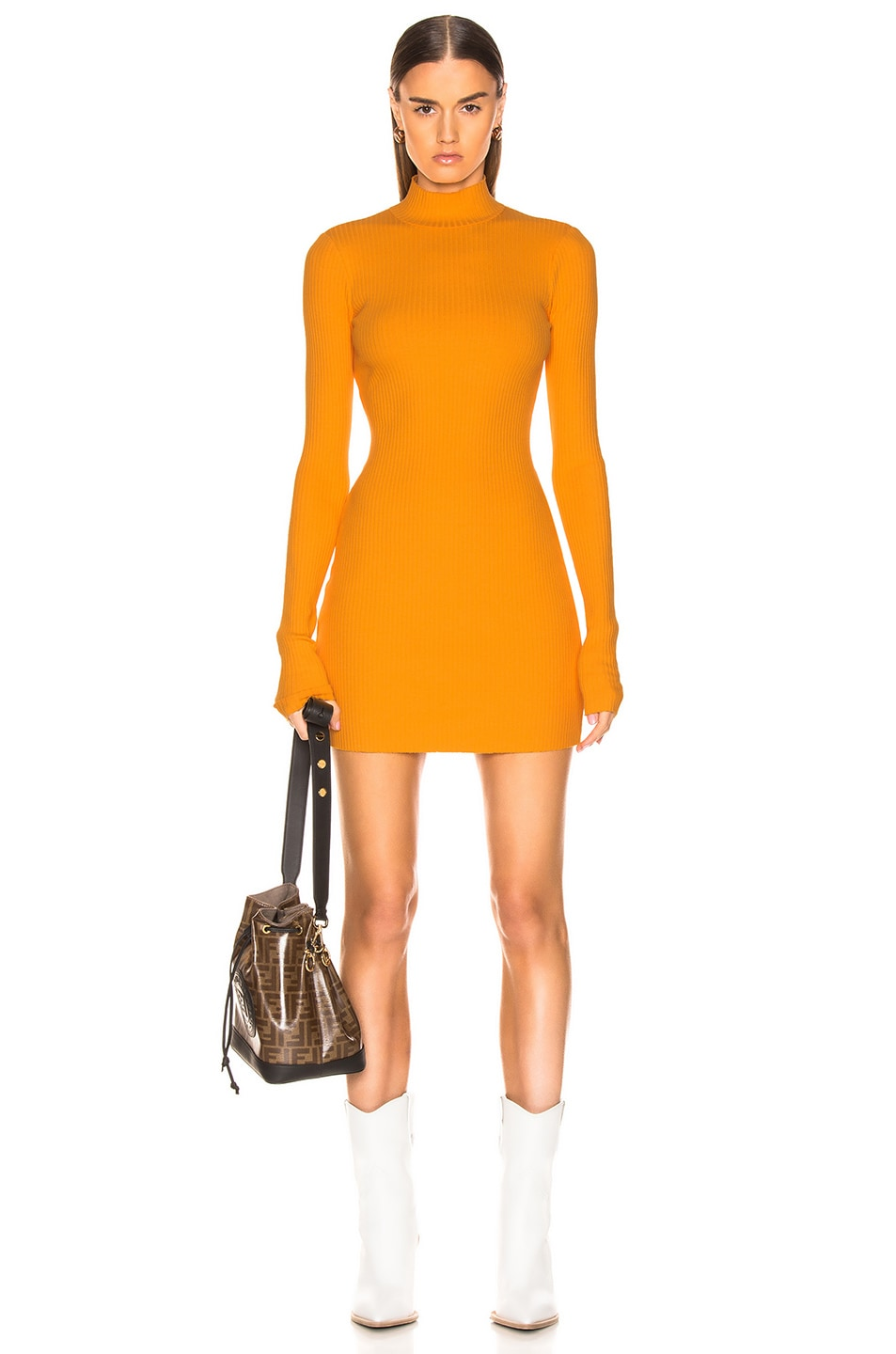 Image 1 of COTTON CITIZEN Ibiza Mini Dress in Honey