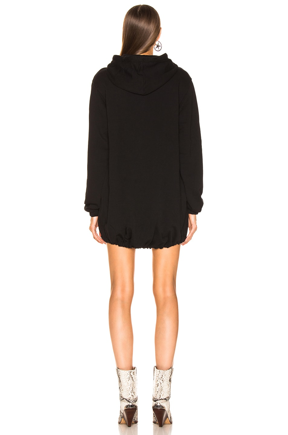 Image 3 of COTTON CITIZEN Milan Hoodie Dress in Jet Black
