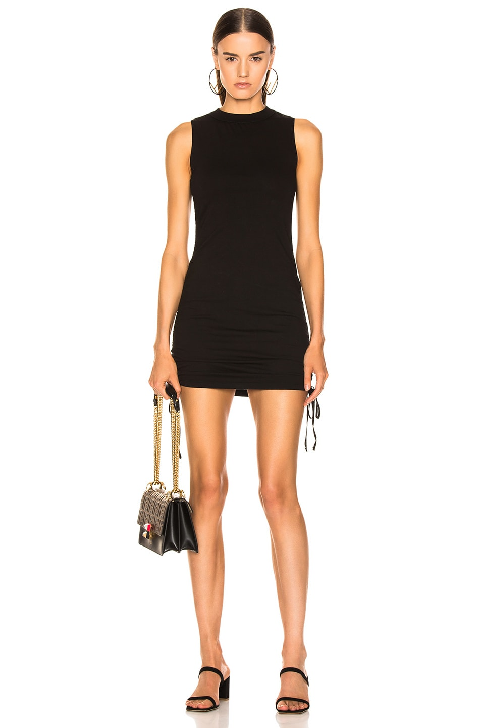 Image 1 of COTTON CITIZEN Lisbon Tank Dress in Jet Black
