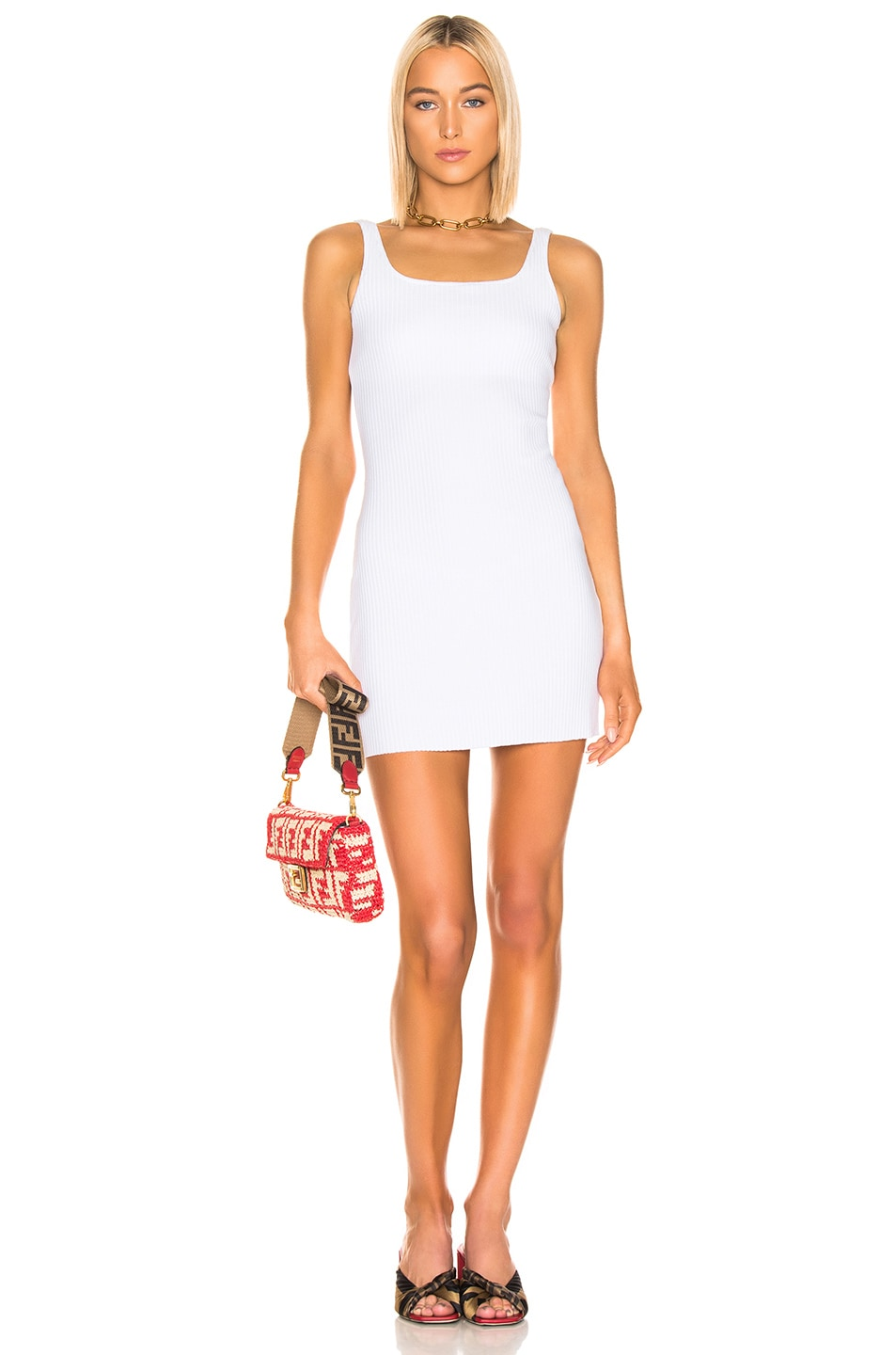 Image 1 of COTTON CITIZEN Ibiza Tank Dress in White