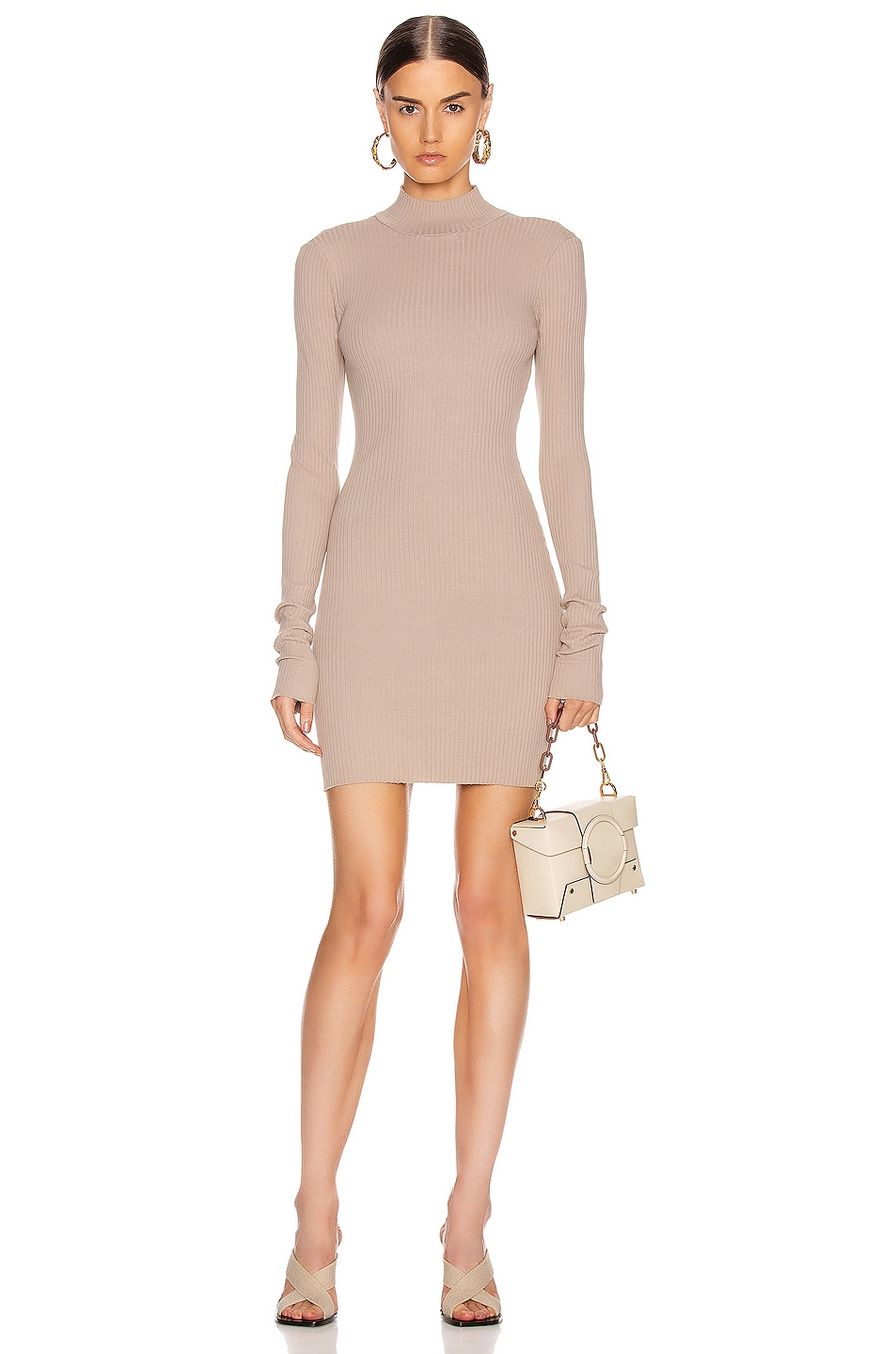 Image 1 of COTTON CITIZEN Ibiza Mini Dress in Sand Dollar