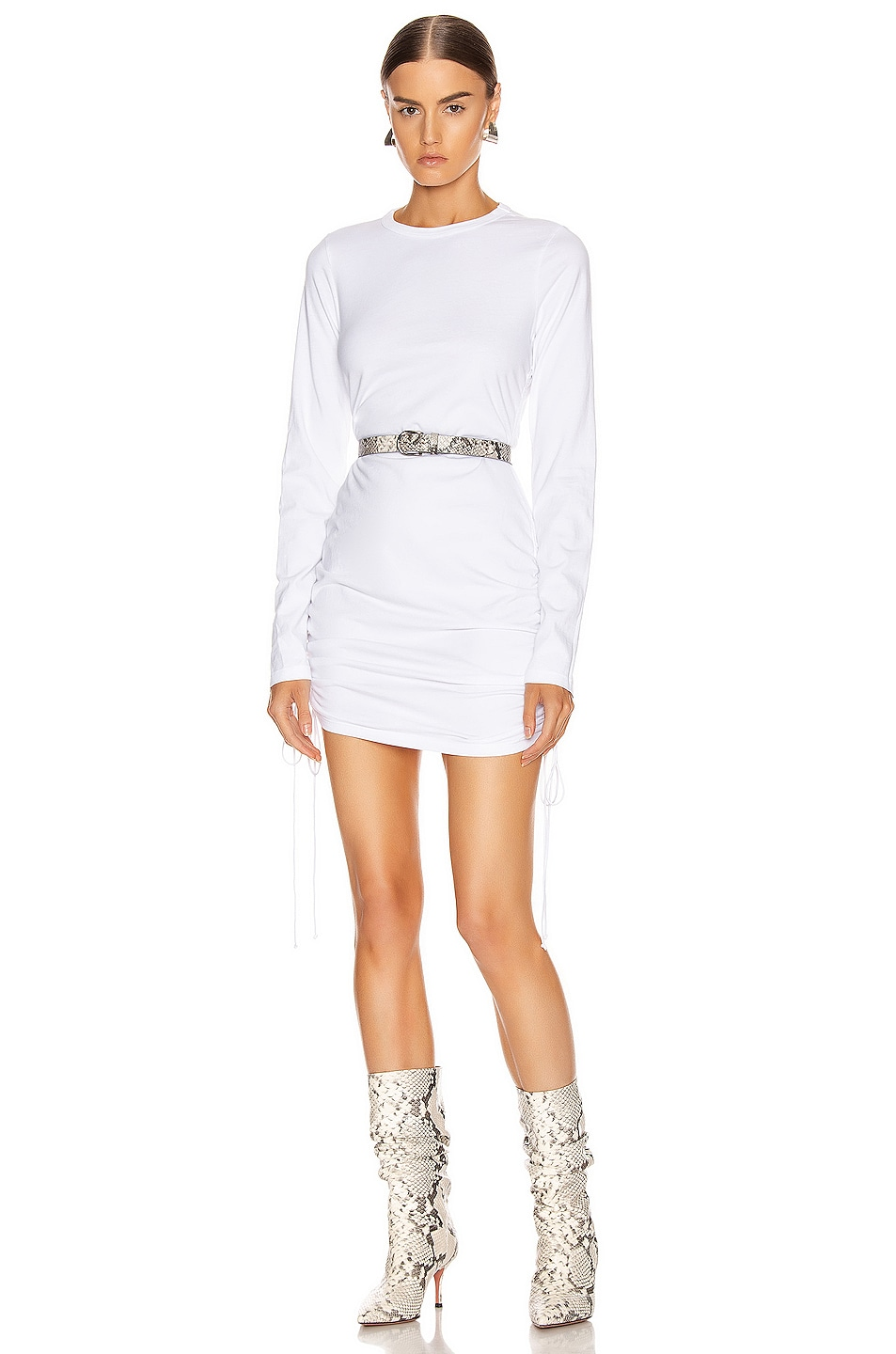 Image 1 of COTTON CITIZEN Lisbon Shirt Dress in White