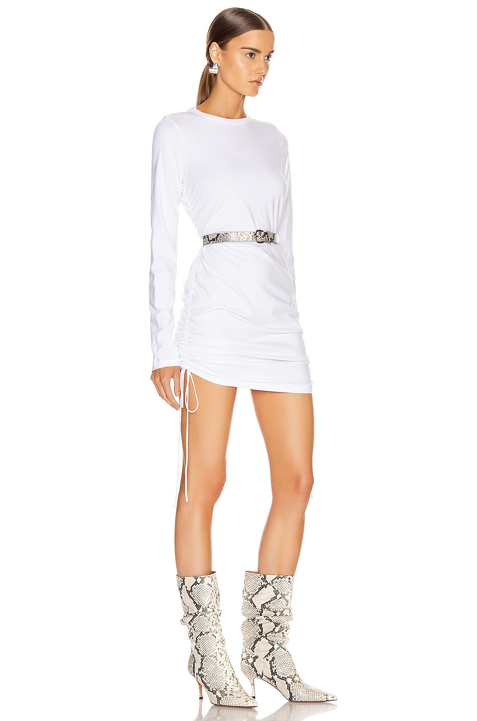 Image 2 of COTTON CITIZEN Lisbon Shirt Dress in White
