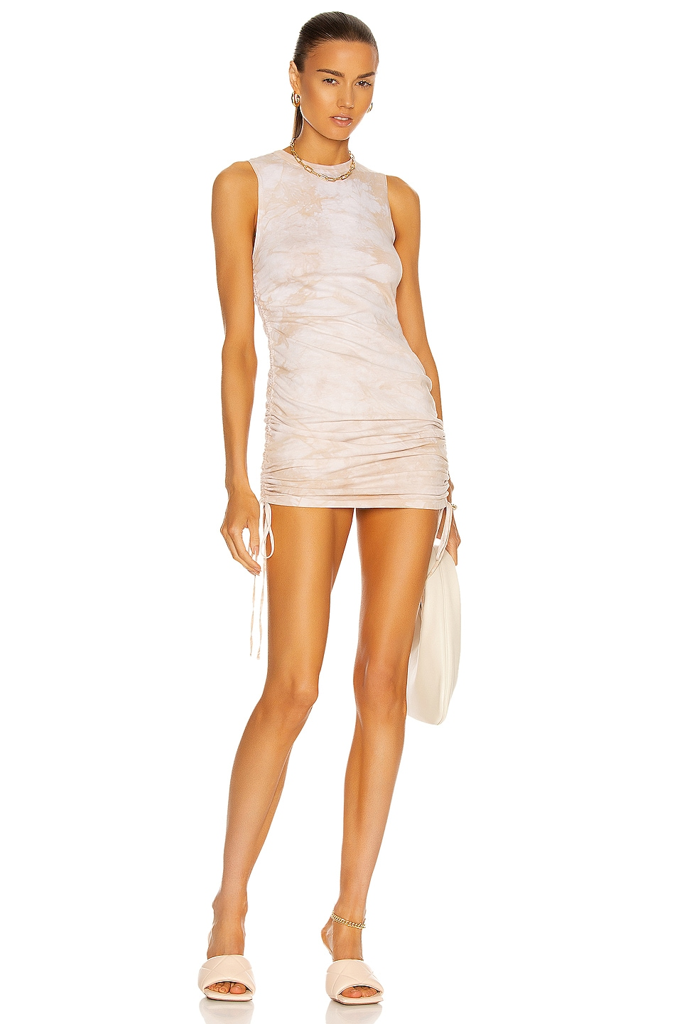 Image 1 of COTTON CITIZEN Lisbon Tank Dress in Oatmeal Crystal