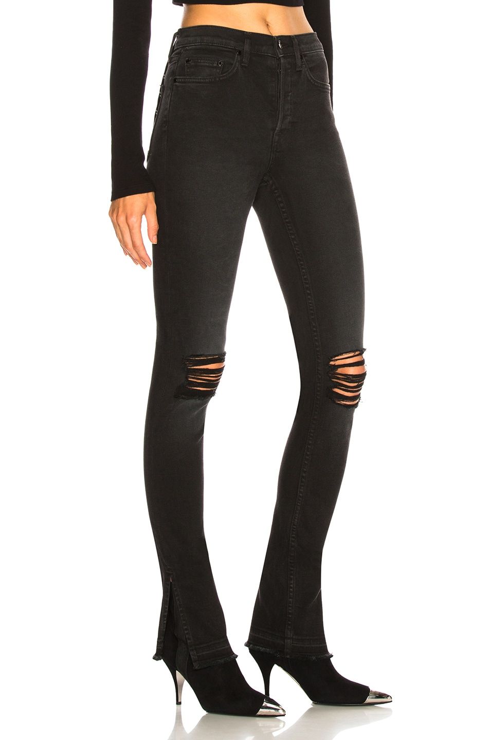 Image 2 of COTTON CITIZEN High Split in Washed Black