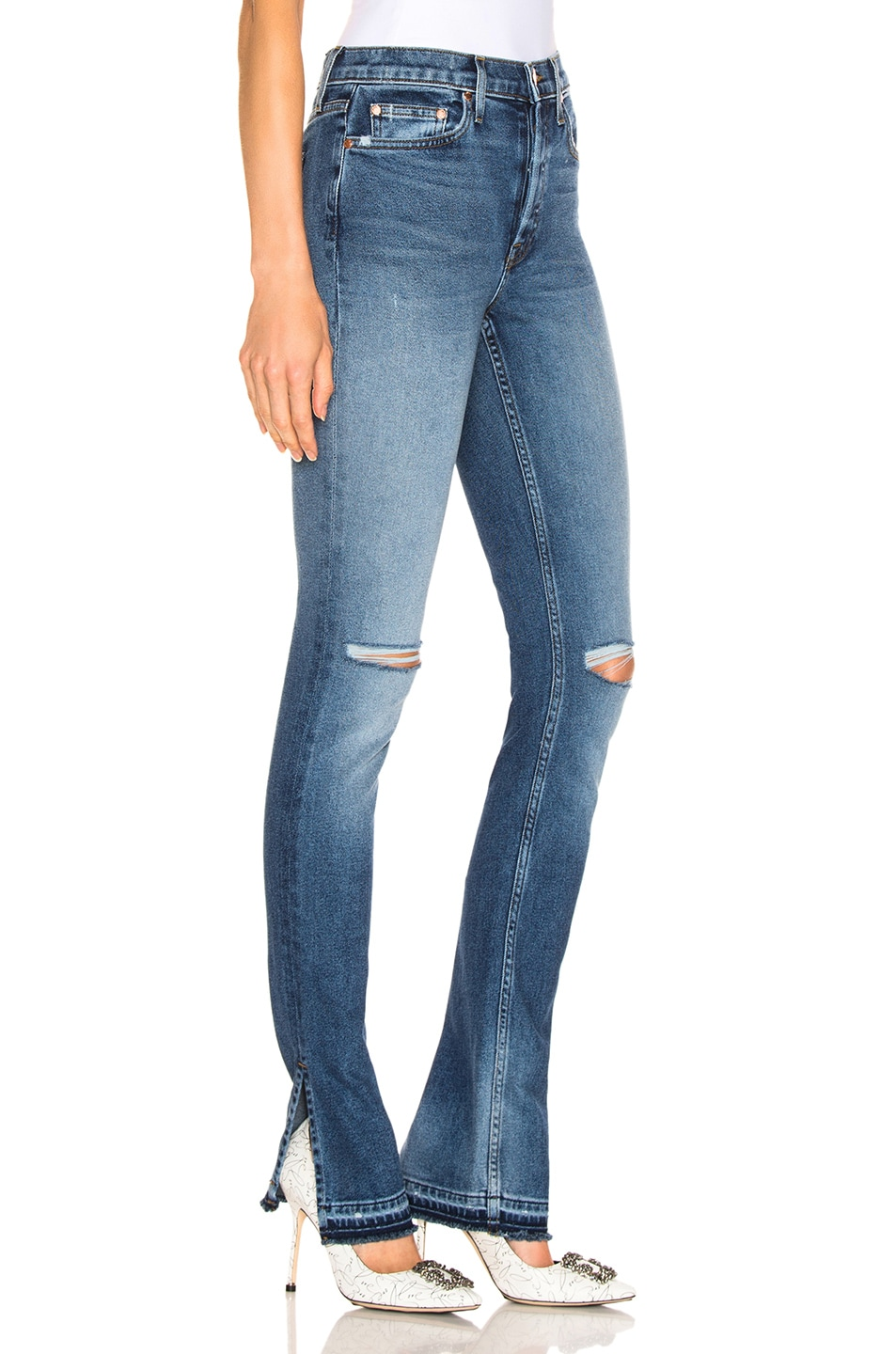 Image 2 of COTTON CITIZEN High Split Jean in Bleeker