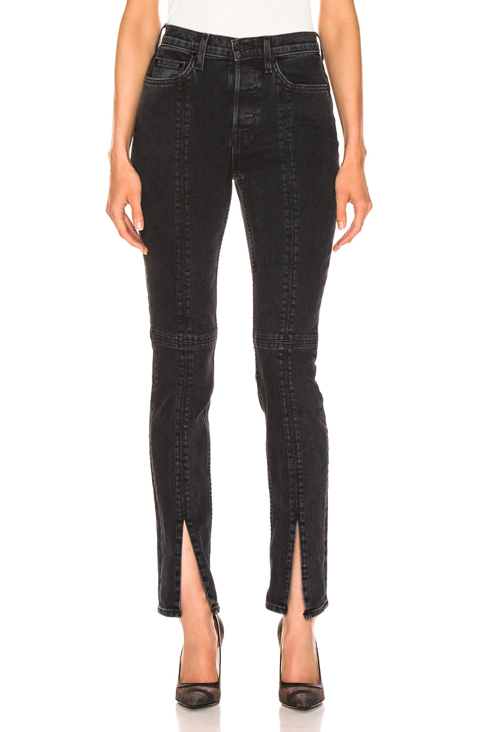 Image 1 of COTTON CITIZEN Skinny Vickie Jean in Faded Black