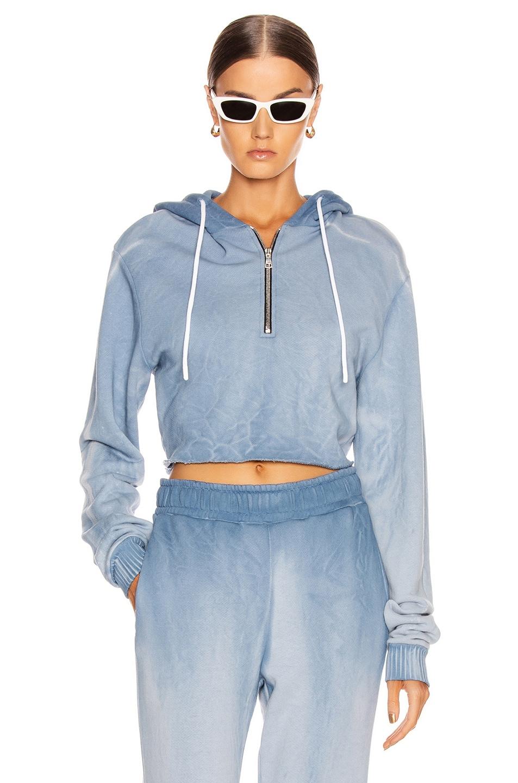 Image 1 of COTTON CITIZEN Brooklyn Crop Zip Sweatshirt in Desert Sky Dawn