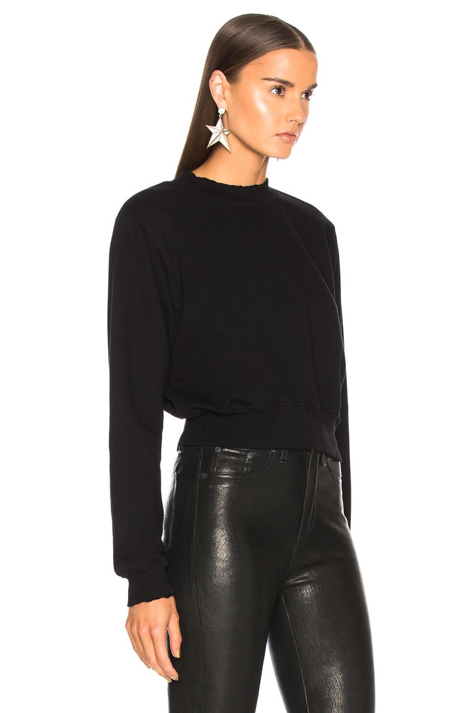 Image 2 of COTTON CITIZEN Milan Cropped Sweatshirt in Jet Black