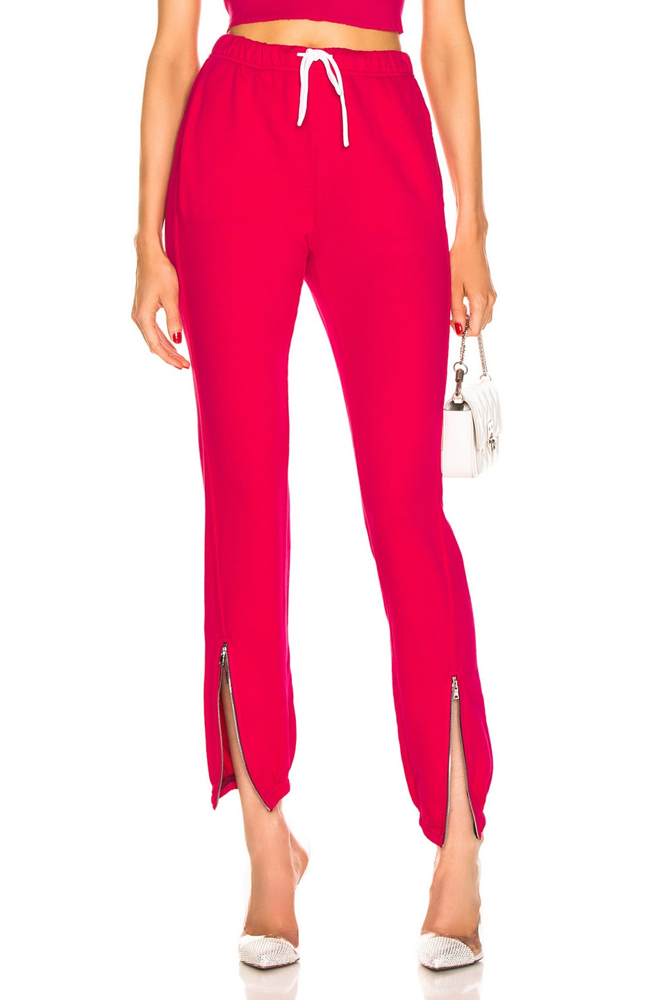 Image 1 of COTTON CITIZEN Milan Zip Jogger in Foxy