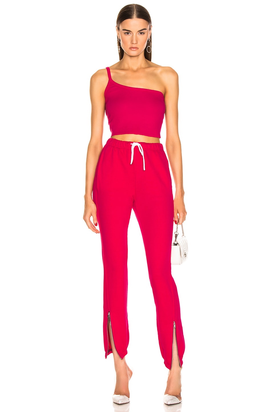 Image 4 of COTTON CITIZEN Milan Zip Jogger in Foxy
