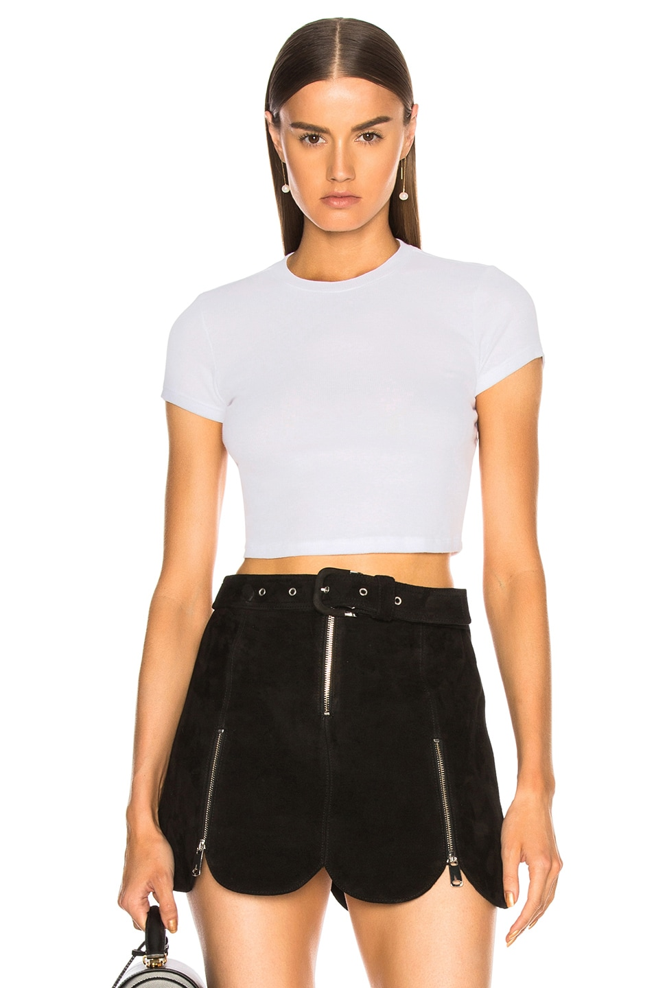 Image 1 of COTTON CITIZEN Venice Crop Tee in White